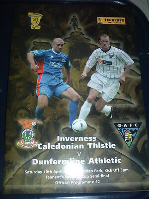 Inverness Caley v Dunfermline April 2004 Scottish Cup Semi Final