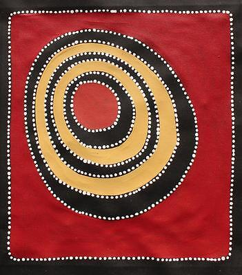 Aboriginal Art Painting by Sally Clark 39cm X 42cm