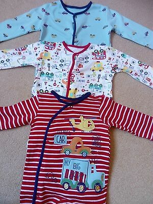 baby boys vehicle sleepsuits 3-6 months. Babygrow bundle, George