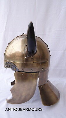 Viking Horns Armor_Medieval Spartan Movie Roleplay Knight Warrior Viking Helmet