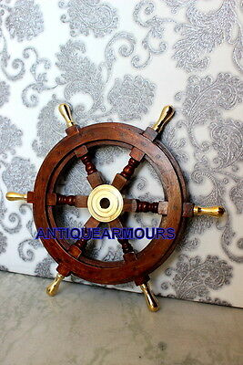 Boat Steering Ships Wheel 18 Inch _Collectibles Pirate Tugboat Home Decor Wheel