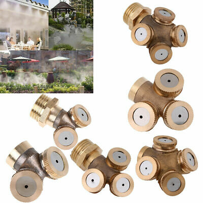 Brass Hose Pipe Garden Tap Spray Nozzle Mist Sprayer Fogging Watering Cooling