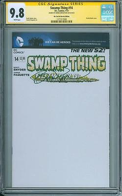 Swamp Thing #14 blank variant CGC SS 9.8 Bernie Wrightson