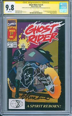 Ghost Rider #1 CGC SS 9.8 Howard Mackie and Mark Texiera sketch KEY ISSUE