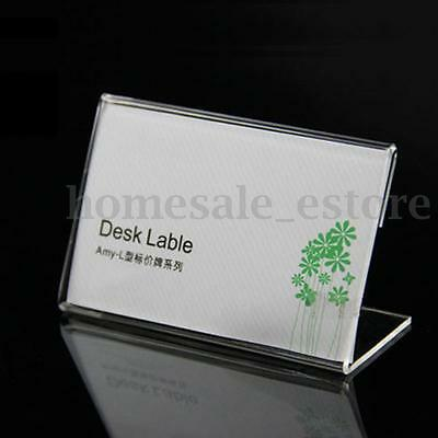 20pcs Acrylic Name Card Display Holder Label Price Sign Tag Shop Stands 9cmx6cm