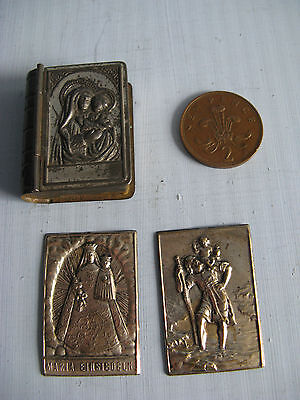 Miniature metal book box +book plates