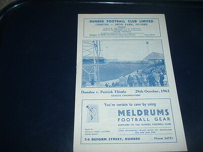 Dundee v Partick Thistle Oct 1961 ( Dundee Championship season )