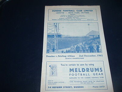 Dundee v Stirling Albion Dec 1961 ( Dundee Championship season )