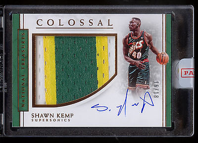 2016-17 National Treasures Shawn Kemp Colossal Autograph Jersey Patch 16/18