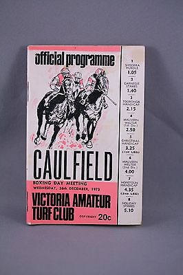 1973 Caulfield Boxing Day Meeting Race Book - Horse Racing Programme
