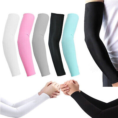 5 pairs(10 pieces) Cooling Arm Sleeves Cover UV Sun Protection Basketball Sport