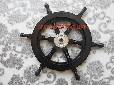 Boat Ship Wheel Wooden Steering Nautical Vintage/Collectible~18 inch_Decor