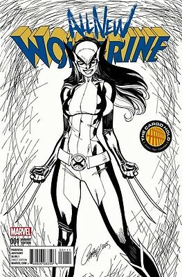 All New Wolverine #1 Tch J Scott Campbell Black White Variant Near Mint