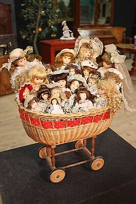 Batch collection 21 dolls several materials pram toy game antique style 900 XX