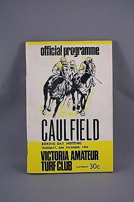 1974 Caulfield Boxing Day Meeting Race Book - Horse Racing Programme