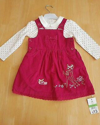 Girls Bambi Dress Set 9-12 Months NEW