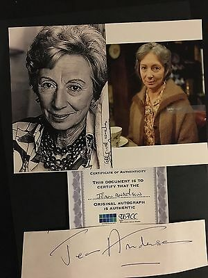 Jean Anderson hand signed autograph of actress