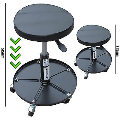 Mechanic Round Pneumatic Seat Car Motorcycle Workshop Creeper Stool With Tray