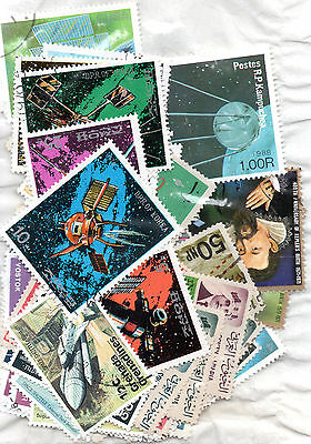 Space Stamps - 62+ - Mixed Countries.