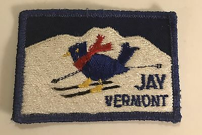 JAY PEAK Vintage Skiing Ski Patch Montgomery Center VERMONT VT Travel Souvenir