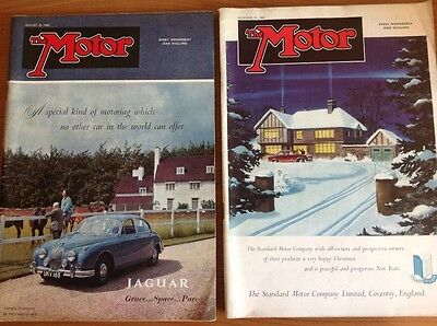 Motor Magazines x 2 : December 1957 and  31 August 1960