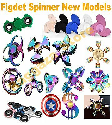 Fidget Hand Finger Spinner EDC Focus Stress Reliever Toys Kids Adults Rainbow