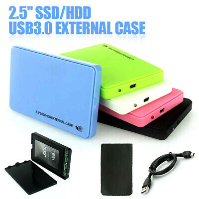 "2.5"" SATA USB 3.0 HDD IDE Box Case Scatola Esterna Hard Disk Disco Rigido"