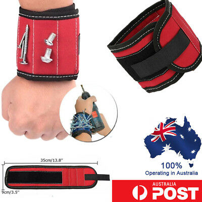 Magnet Wristband Arm Pocket Tool Belt Wrist Bands Pouch Screw DIY Working Helper