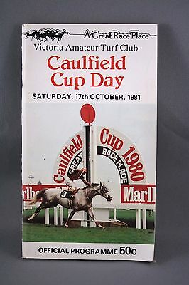 1981 Caulfield Cup Day - Horse Racing Programme