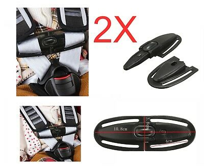 2X Car Baby Safety Seat Strap Belt Harness Chest Child Clip Buckle Latch Nylon