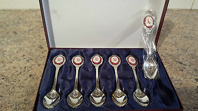 Boxed 6 Tea Spoons to compliment Royal Albert Lady Hamilton Carlyle China Insert