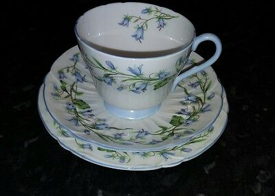 Vintage Shelley 'Harebell' 13590 Tea Trio Henley Shape. Perfect Condition.   2.