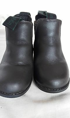 Childrens Dk Brown Leather Dublin Jodphur Boots - Size 8