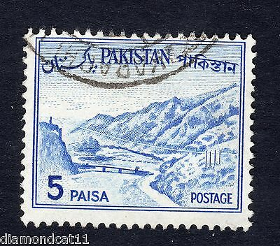 1961 Pakistan 5p Blue Khyber Pass SG 173 Fine Used R13401