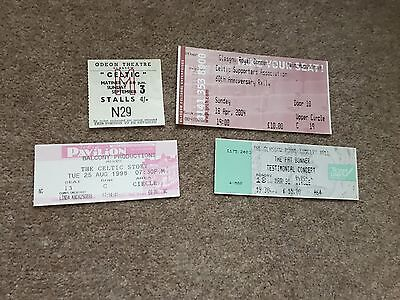 Pat Bonner Testimonial Celtic Ticket + 3 Others All Great Condition