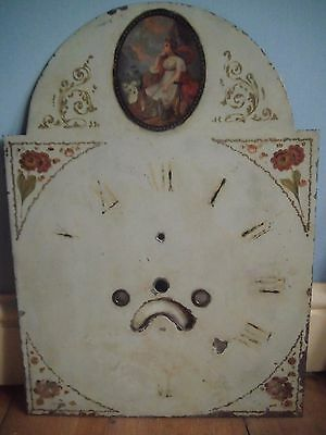 19Th Century Longcase Grandfather Clock Dial Face