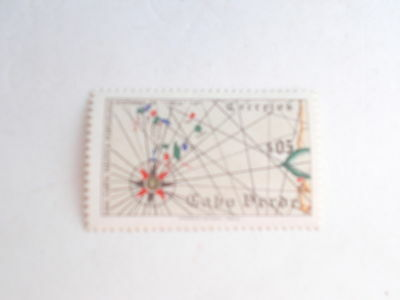 Postage Stamp -  Cape Verde  1952  Mariner's Compass