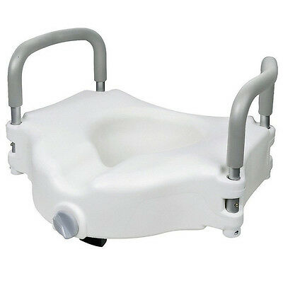 WC Booster Seat Raised Toilet Seat Toilet Attachment with Armrests