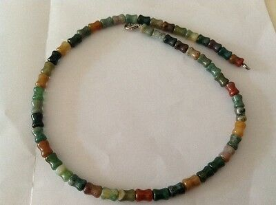 Burmese Jade necklace multi coloured outside layers best quality jade 42cm