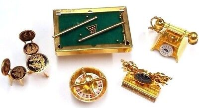 Group of Miniature Brass Gold Plated for your Collection! Vintage Dollhouse