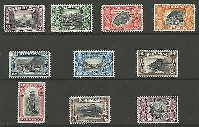 St Helena Sg114-23 The 1934 Centenary Set Of 10 Lightly Mounted Mint Cat £425