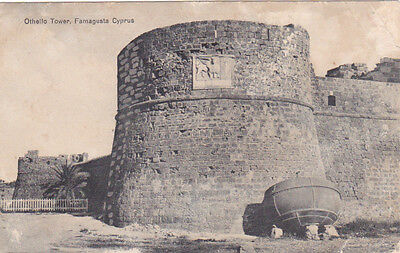 Cyprus Postcard Famagusta Othello Tower By Foscolo No 09 5789