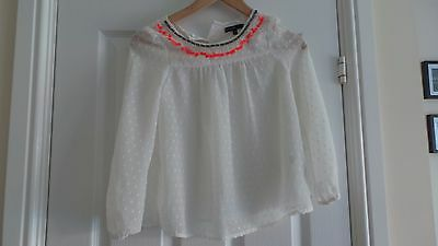 Girls White Blouse from M&S aged 7-8 years