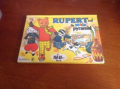 Rupert Bear and the Magic Pyramid Pop up Book Purcell 1970