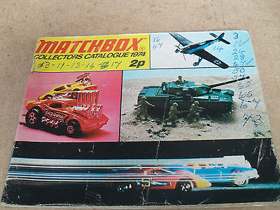 Matchbox Toy Catalogue 1974 Uk Edition Good Condition For Age