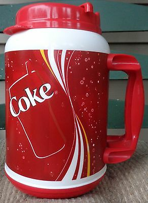 Coke Coca Cola classic 32 oz thermo insulated travel cup mug by Whirley