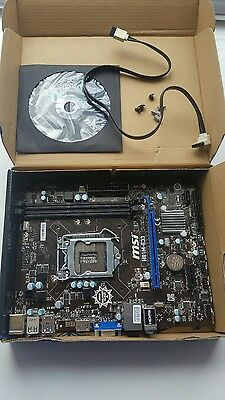 MSI Socket 1155 Military Class Motherboard H81M-E33 No Backplate