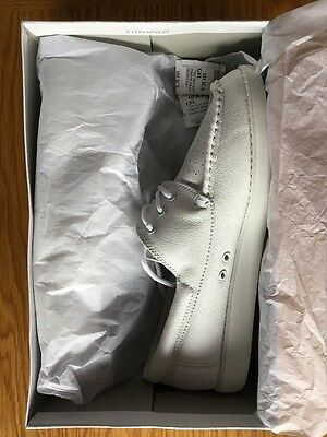 Men's White Leather Bowling Shoe UK Size 9