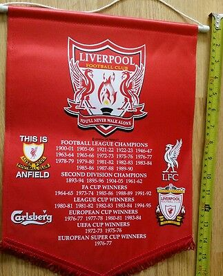 Large English Liverpool fc football  fans Pennant/wimpel/fanion
