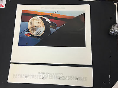 Vtg 1980 Porsche Factory calendar complete, good condition